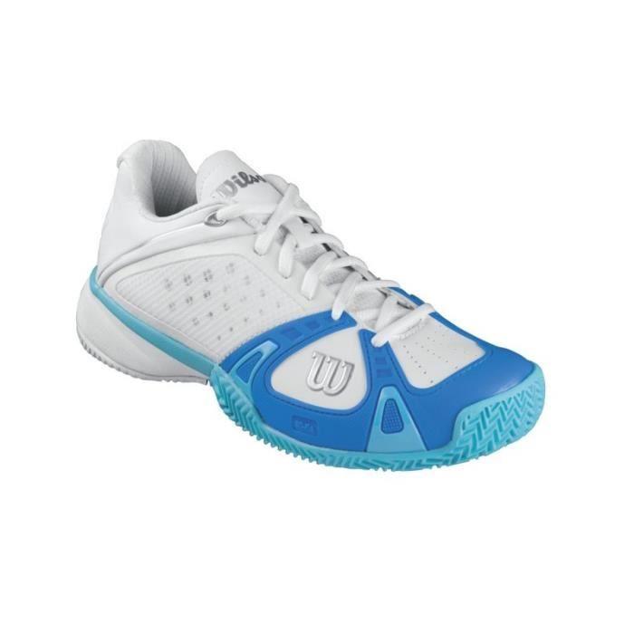 Chaussures WILSON Femme Rush Pro CC Clay W Blanc / Bleu / Océan