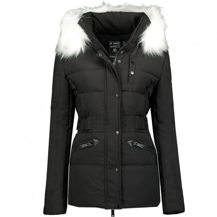 Parka Noire Fille Geographical Norway Chester