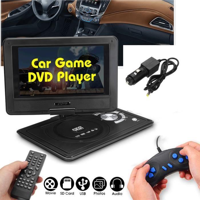 TEMPSA Lecteur DVD Portable 9.8Pouces Voiture Rechargeable Télécommande USB + Jeu Joystick PRISE EU