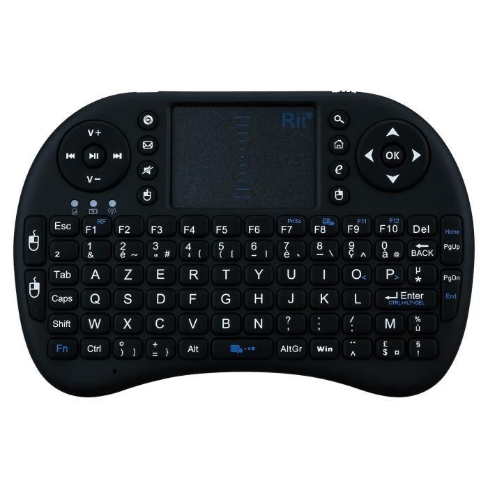 OEM - Mini clavier Bluetooth pour SAMSUNG Galaxy S8 Smartphone Sans Fil AZERTY Rechargeable (NOIR)