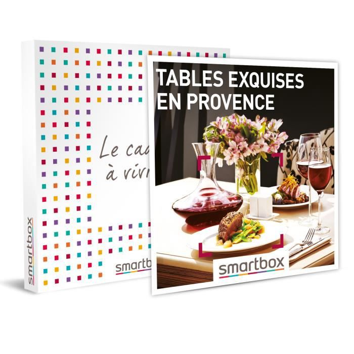 SMARTBOX - Coffret Cadeau - TABLES EXQUISES EN PROVENCE - 93 restaurants en Provence