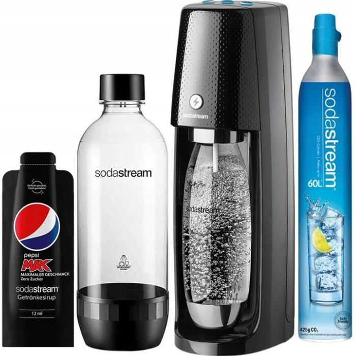 SATURATEUR ELECTRIQUE SODASTREAM EASY ONE TOUCH + SIROP PEPSI MAX 12ML