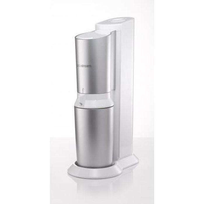 SodaStream Crystal, Métal, Plastique, Acier inoxydable, Blanc, 0,6 L, 60 L, 155 mm, 260 mm