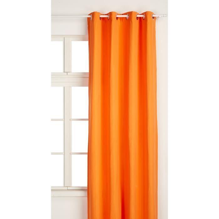 TODAY Rideau Isolant 140-240 Mandarine Polyester Orange 140 x 240 cm