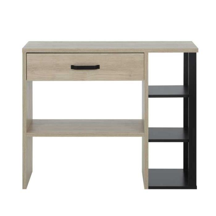Console 1 tiroir Bois/Noir - VECCHIO - L 102 x l 36 x H 81