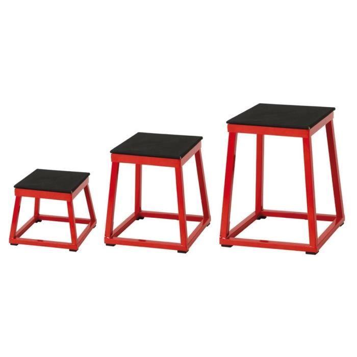 Set de 3 plateformes de pliométrie - HAUTEUR : 30, 45 et 60 cm