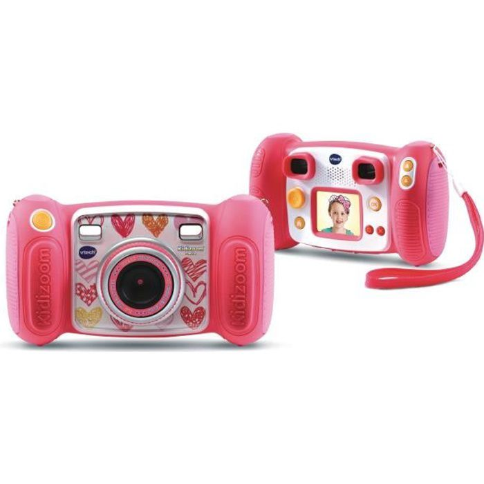 VTECH - 193645 - Kidizoom Smile rose - appareil photo enfant