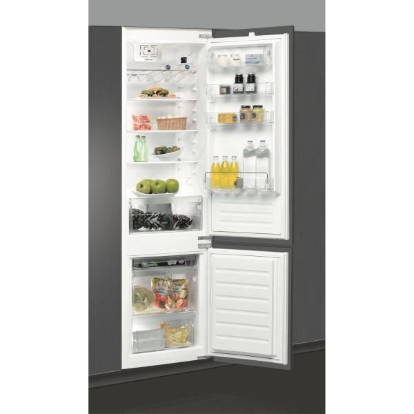 WHIRLPOOL ZRT169 - Réfrigérateur congélateur bas encastrable - 308L (228+80) - Froid brassé Less Frost - A+ - L 54cm x H 193,5cm