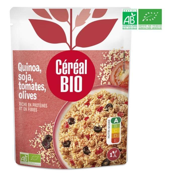 CEREAL BIO Quinoa cuisiné soja, tomates et olives Bio - 220 g