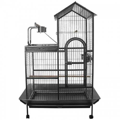 voli re cage pour perroquet perruche milan 93x60x160cm achat vente voli re cage oiseau. Black Bedroom Furniture Sets. Home Design Ideas