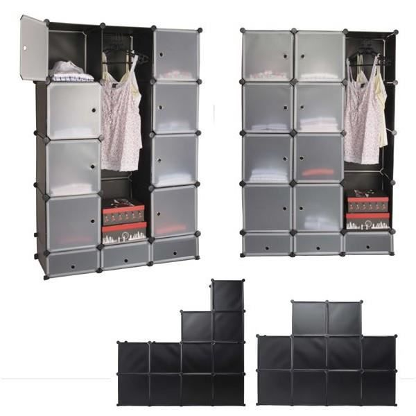 armoire de rangement modulable multifonctions 15 cubes gm. Black Bedroom Furniture Sets. Home Design Ideas