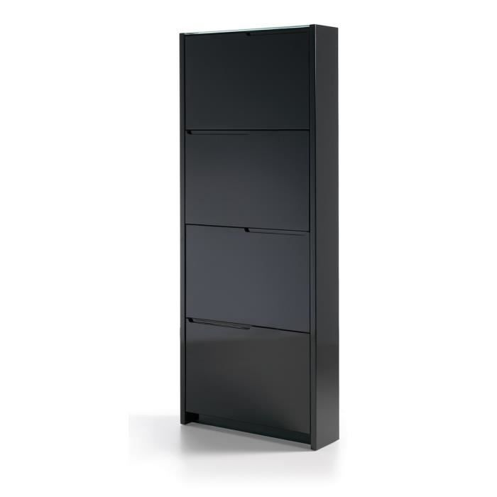 meuble chaussures gala laqu noir achat vente meuble. Black Bedroom Furniture Sets. Home Design Ideas