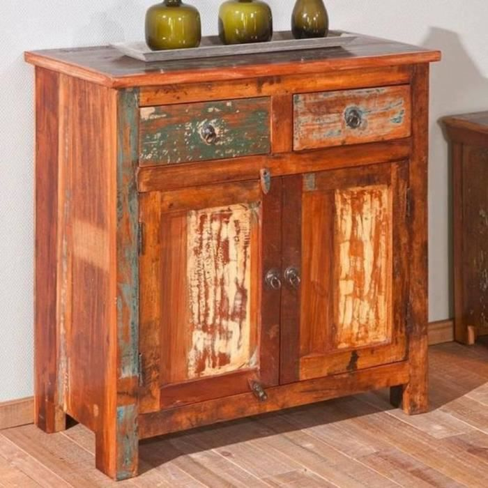 buffet bas design farol en bois de manguier rec achat vente buffet bahut buffet bas. Black Bedroom Furniture Sets. Home Design Ideas
