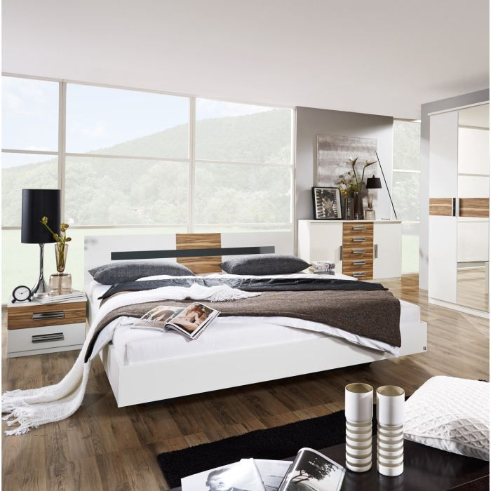 lit et 2 chevets design soho achat vente structure de. Black Bedroom Furniture Sets. Home Design Ideas