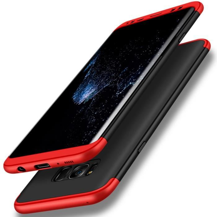 Étui Coque Samsung Galaxy S8, 3 en 1 Hybrid Dur PC