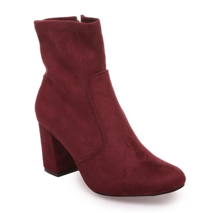 La Modeuse - Bottines en simili daim