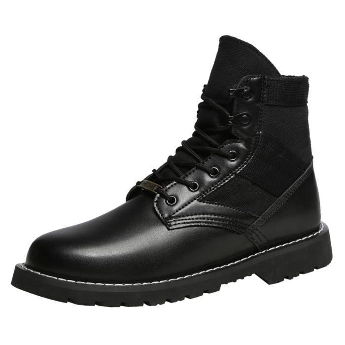 Noir Bottes Femmes Bottines de Bottes Hommes Outdoor Casual Wearable mode Chaussures jeunes DWE29IYH