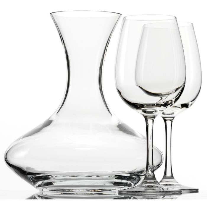 coffret de 2 verres vin 1 carafe vin weinland achat vente carafe a vin coffret de 2. Black Bedroom Furniture Sets. Home Design Ideas