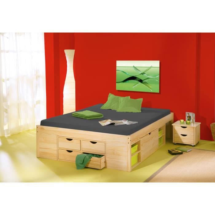 lit 160x200 avec rangement achat vente lit 160x200. Black Bedroom Furniture Sets. Home Design Ideas