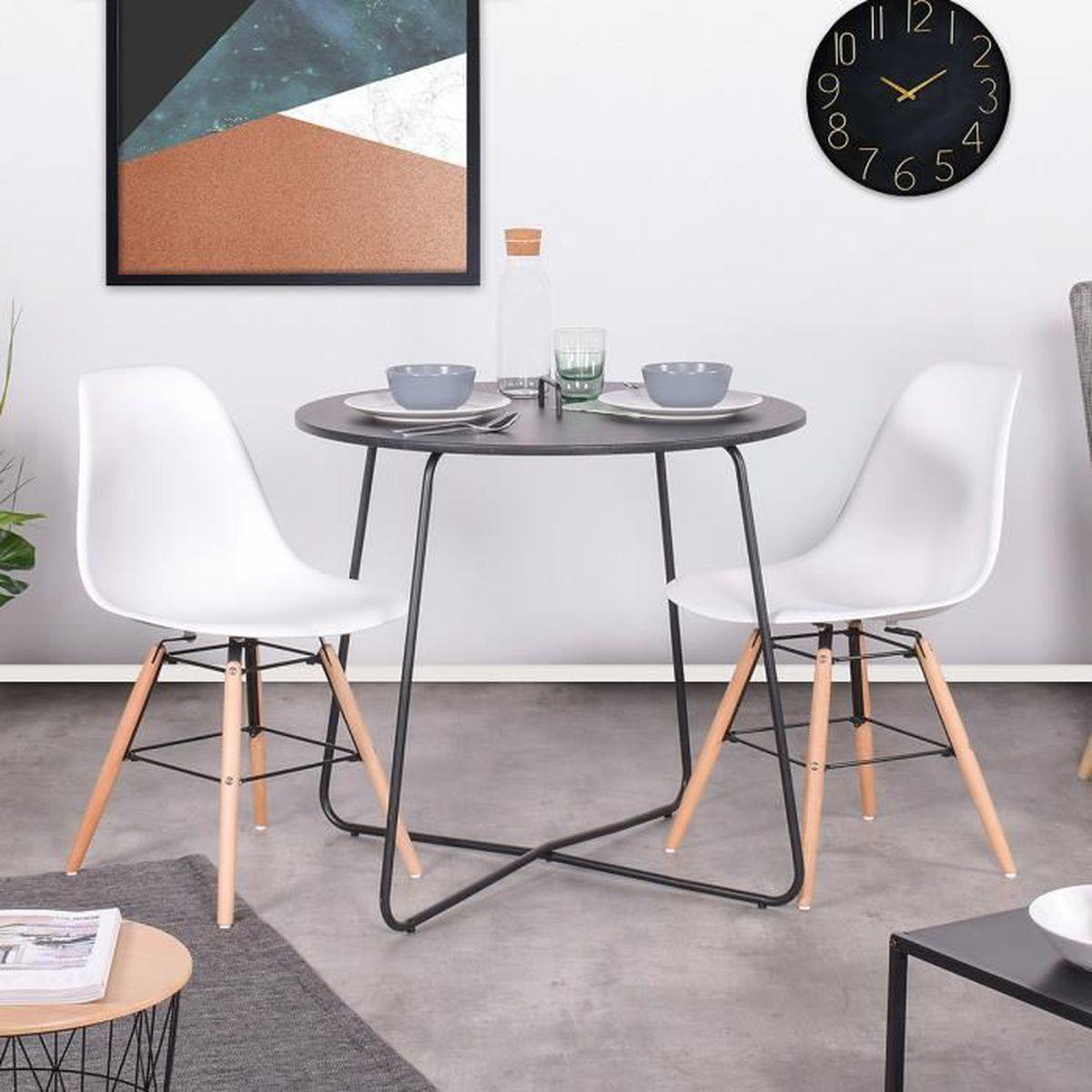 Table A Manger De 2 A 4 Personnes Forme Ronde Industriel Vintage