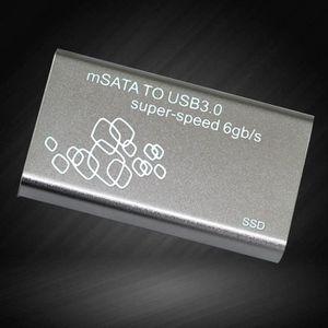 LECTEUR INT. DISQUETTE  Boîte de disque dur Mini SSD Aluminium USB3.0 à mS