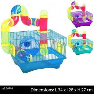 CAGE CAGE HAMSTER SOURIS RONGEUR TUBE ROUE TOBBOGAN