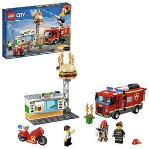 ASSEMBLAGE CONSTRUCTION LEGO City - L'intervention des pompiers au restaur