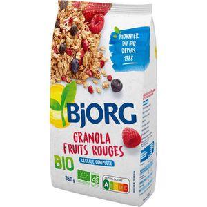 CÉRÉALES PETIT DEJ  Bjorg Granola Fruits Rouges 350g