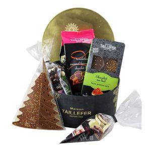 COFFRET CADEAU ÉPICERIE MAISON TAILLEFER Coffret boîte ronde Noël - En Or