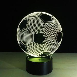 ENCEINTE NOMADE 3D LED Lampe Haut-parleur Bluetooth Football Creat