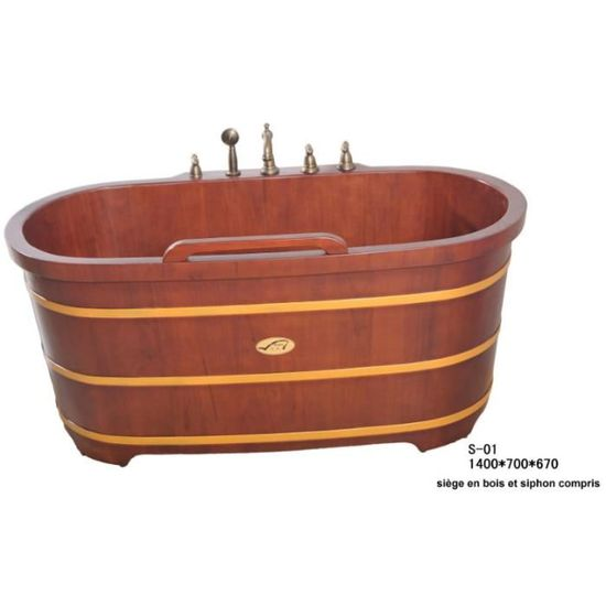 Baignoire en bois baignoire japonaise en bois - Achat ...