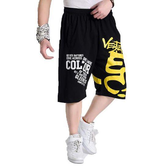 Lettre Shorts Dhomme Imprimer Comfy Grande Taille élastique