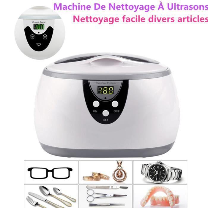 Nettoyeur À Ultrasons Numérique Montres À Bijoux Dentaires 0.6L 35W 40kHz