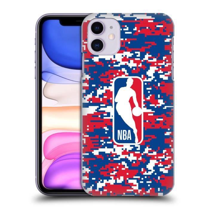 Officiel NBA Camouflage Digitale Logoman Coque D'Arrière Rigide Pour iPhone 11