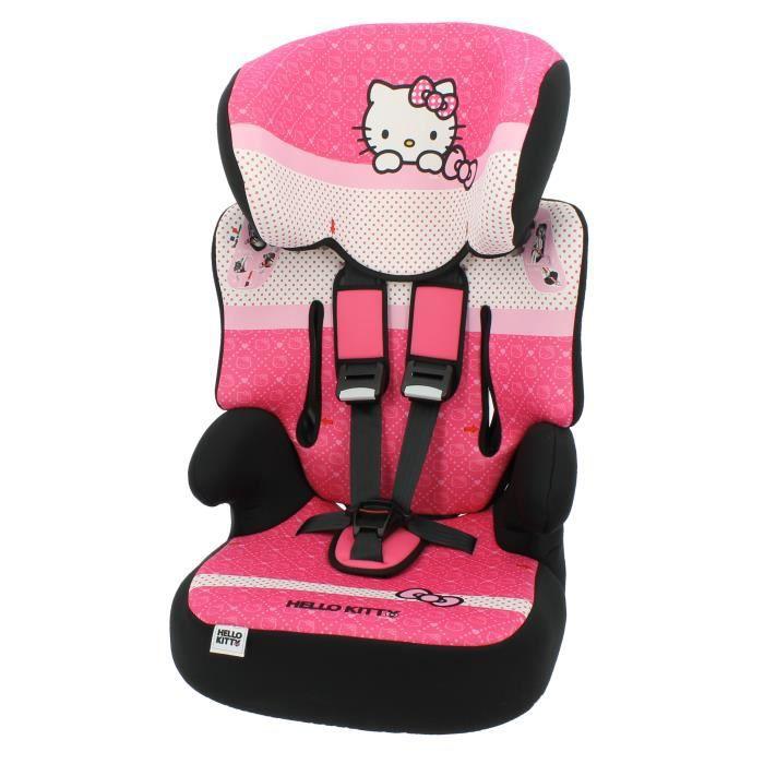 Siège Auto et Rehausseur Hello Kitty Groupe 1/2/3 (de 9 à 36 kg)