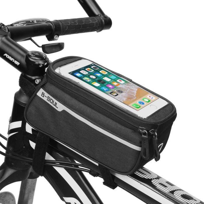 Pochette Tactile Velo pour ZTE AXON 7 MINI Smartphone Support GPS Noir VTT Cyclisme Ecouteurs