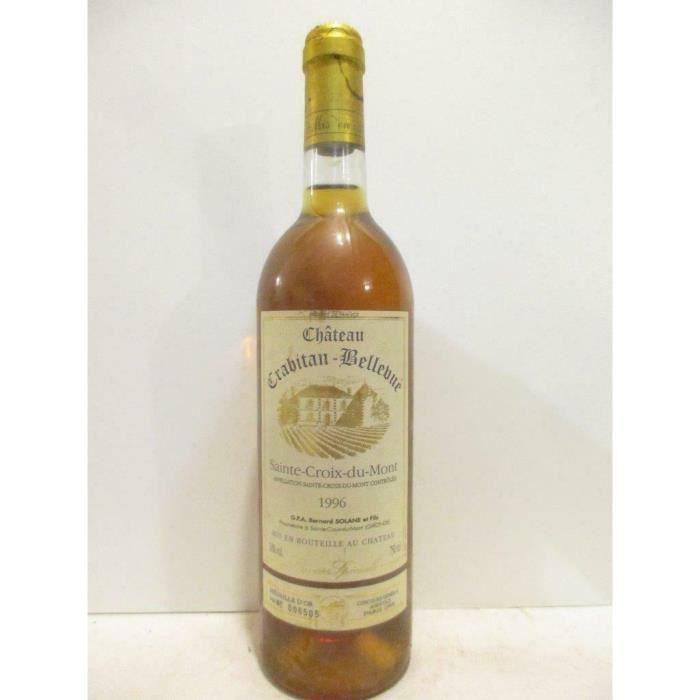 sainte-croix du mont château crabitan-bellevue cuvée spéciale liquoreux 1996 - bordeaux