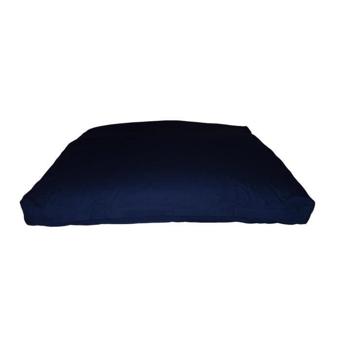 Zabuton Confort Plus 80 x 80 x 12 cm Bleu Marine