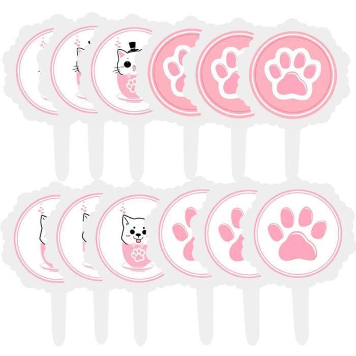 12pcs Cake Topper Cartoon Food Cupcake Décoration pour enfants anniversaire Baby Shower APPAREIL A MUFFINS