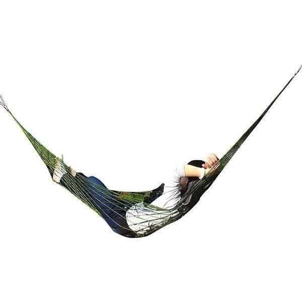 Nouveau Extérieure Voyage Camping Hamac Jardin Portable Nylon Coup de Filet de Maille De Couchage Lit