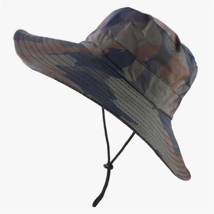 Camo -Casquette tactique étanche, Camouflage Sniper Airsoft, Boonie, pliable, style népalais, militaire, armée, chapeau seau pour ho