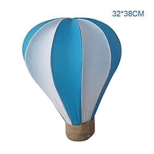coloré montgolfière Décoration Mariage Shop Mall A um Décoration à Suspendre Décoration de fête d 'anniversaire, Bleu, 32 * 38cm