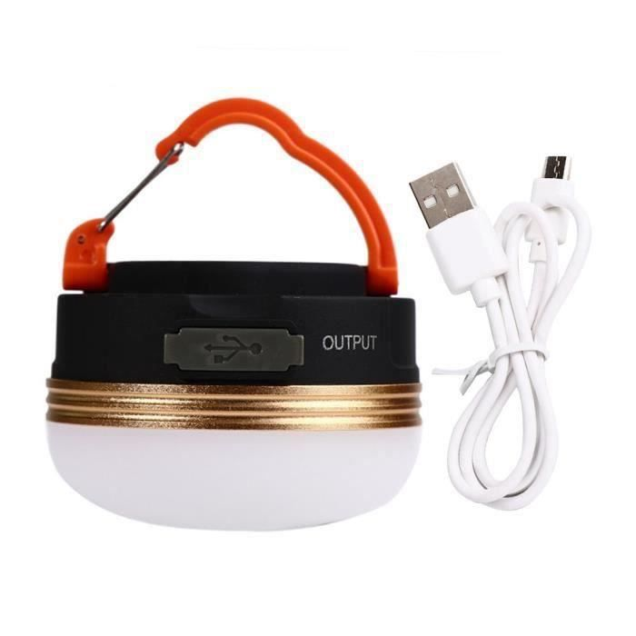3W camping lanterne LED USB lampe de camp rechargeable lampe de tente de secours d'urgence chaude