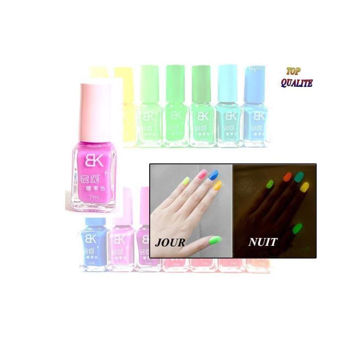 Vernis à ongles Violet pastel phosphorescent - brille la nuit - fluorescent UV