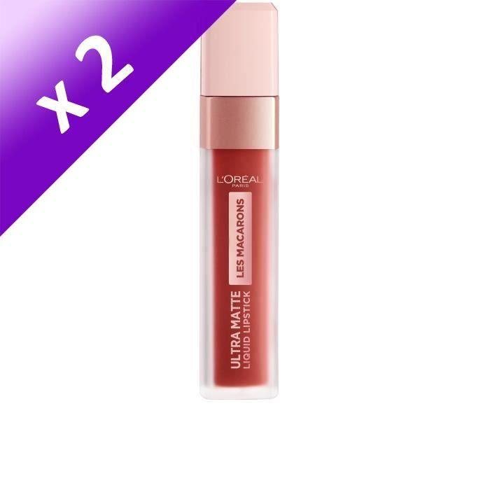 Lot De 2 - L'Oréal Paris Infaillible Rouge à Lèvres Liquide Ultra-Mat 834 Infinite Spice