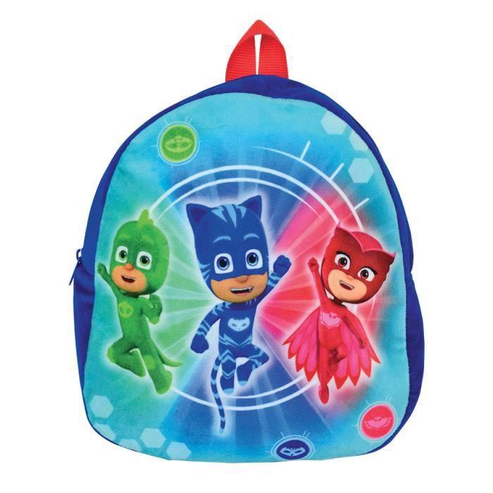 Jemini Pyjamasques sac a dos en peluche +/- 22 cm pour enfant