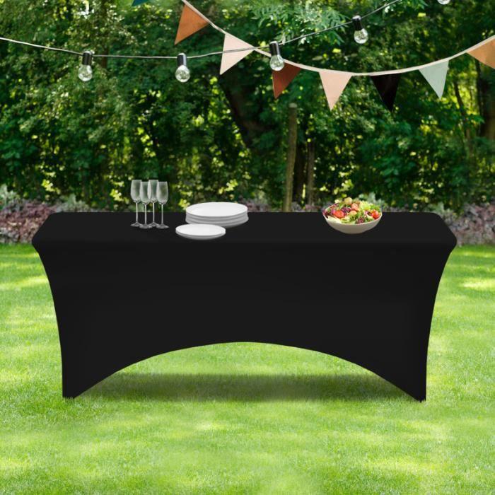 ID MARKET - Housse noire pour table pliante 180CM