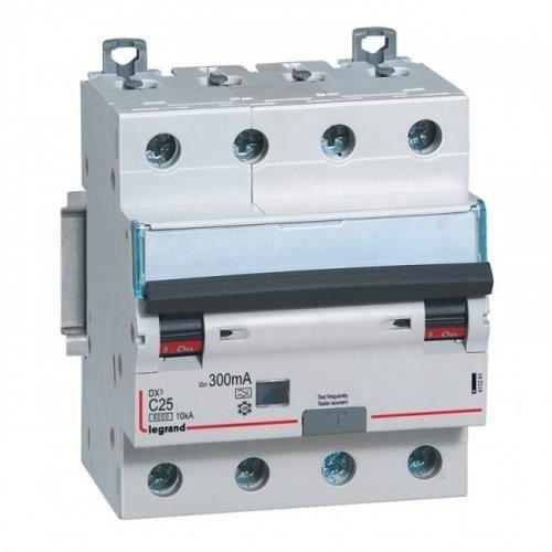 disjoncteur différentiel legrand dx3 20a courbe c 30ma 4 poles type hpi - vis / vis