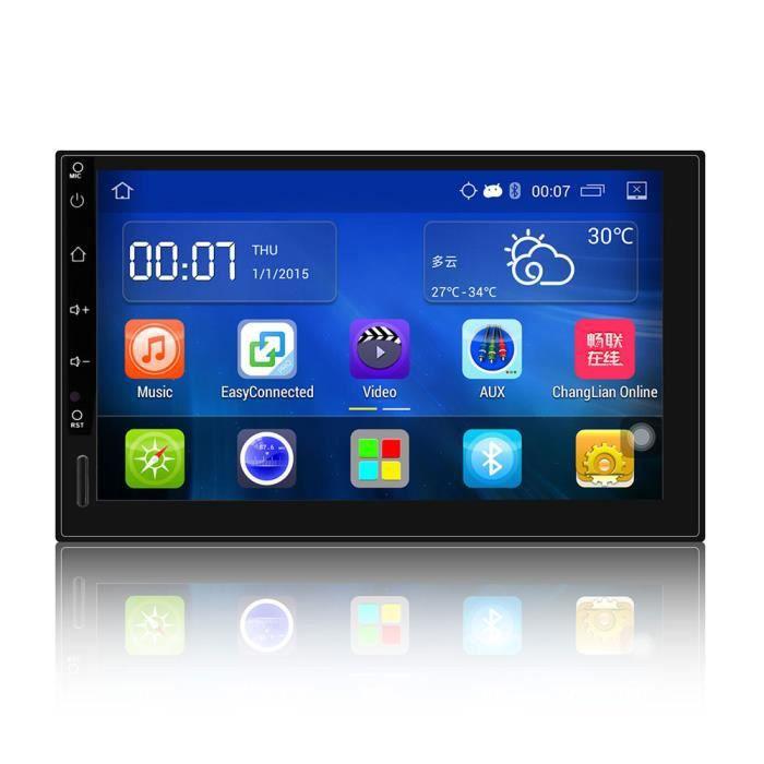 7 - Android 6.0 Universel De Voiture Audio Stéréo GPS Bluetooth Radio automobile HD Lecteur Multimédia