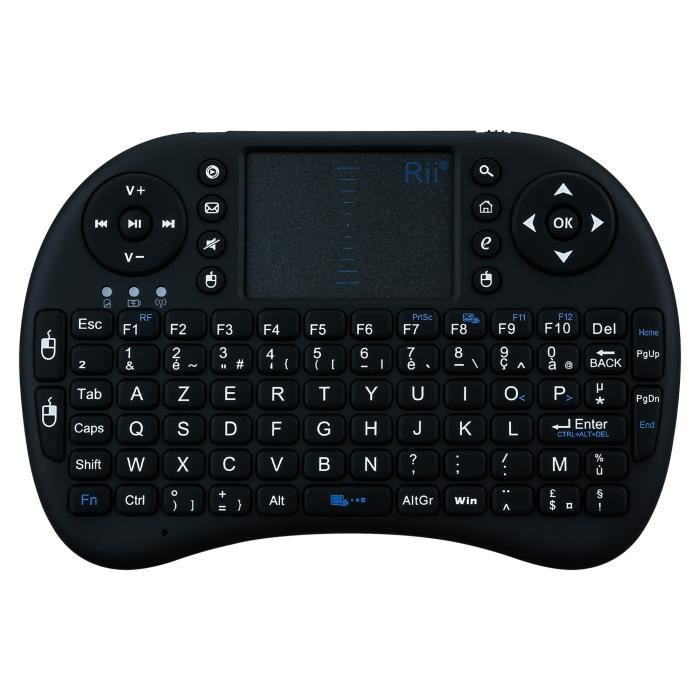 OEM - Mini clavier Bluetooth pour HUAWEI P20 PRO Smartphone Sans Fil AZERTY Rechargeable (NOIR)